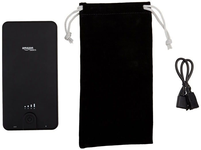 AmazonBasics 10,000 mAh Portable Power Bank Pouch