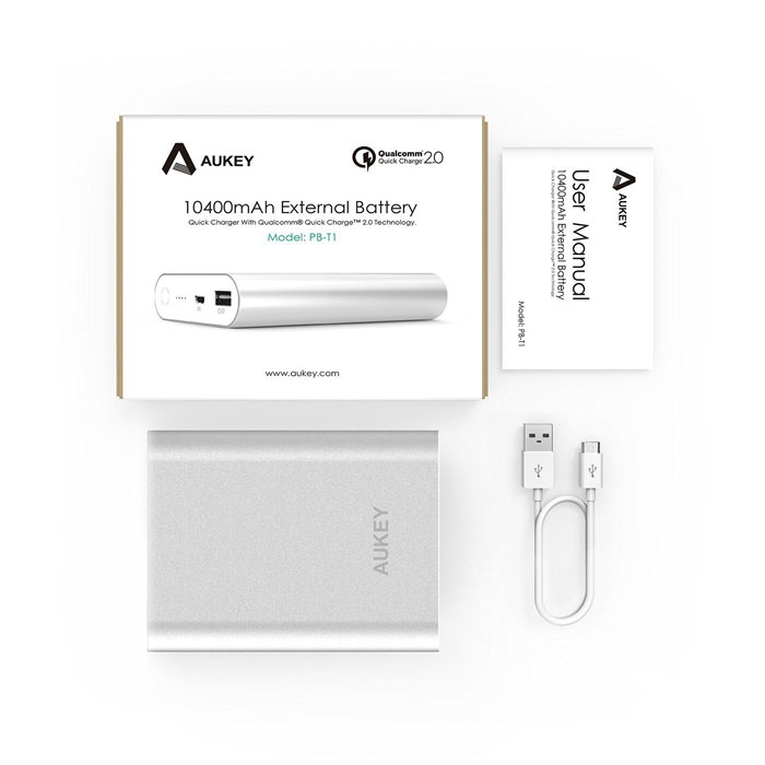 Aukey 10400mAh Quick Charge 2.0 Portable Charger Box