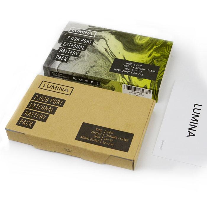 Lumina 15000mAh Power Bank box