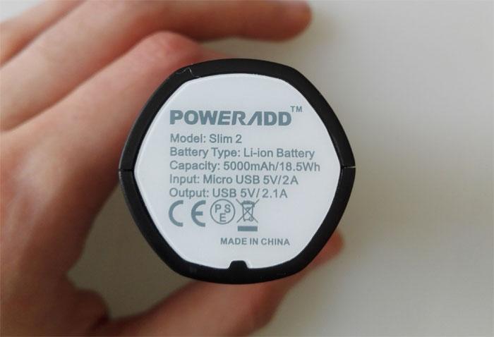 Poweradd Slim2 5000mAh Portable Charger Power