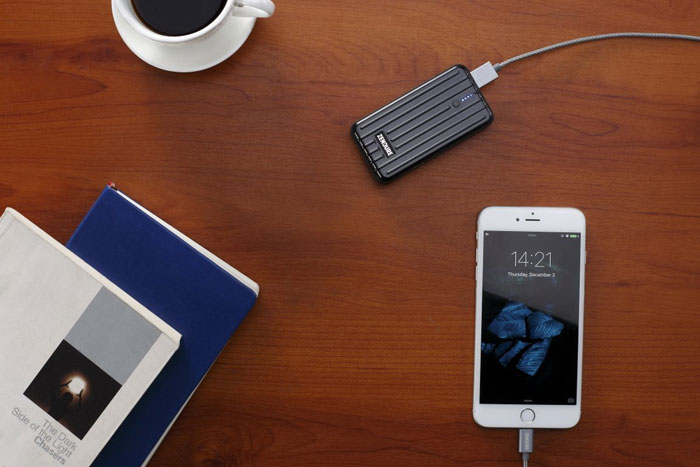 Zendure A2 6700mAh Portable Charger in use