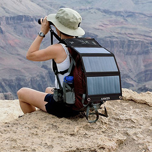 Anker 21W USB Solar Charger portability and design