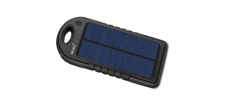 Dizaul 5000 mAh Portable Solar Power Bank Review